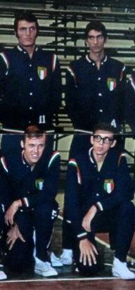 Paolo Bergonzoni in nazionale nel 1969