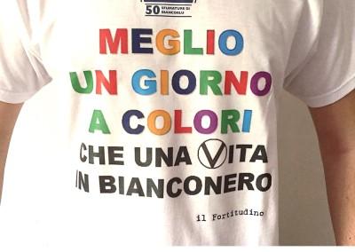 """T-shirt 50° """"Meglio un giorno a colori…"""""""