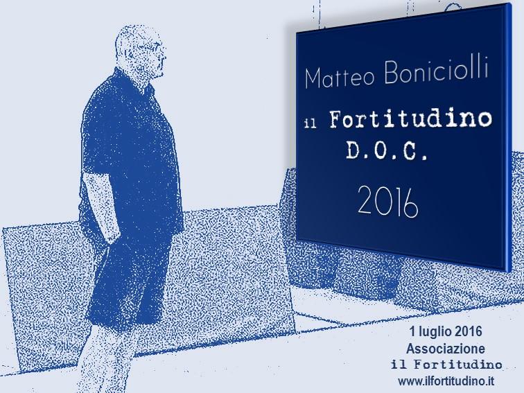 """Venerdì 1° luglio: consegna a Matteo Boniciolli del premio """"il Fortitudino D.O.C. 2016″"""