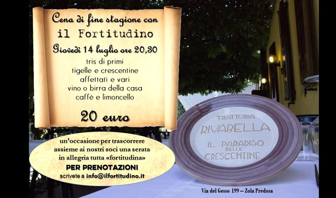 """Cena de """"il Fortitudino"""" Giovedì 14 luglio"""