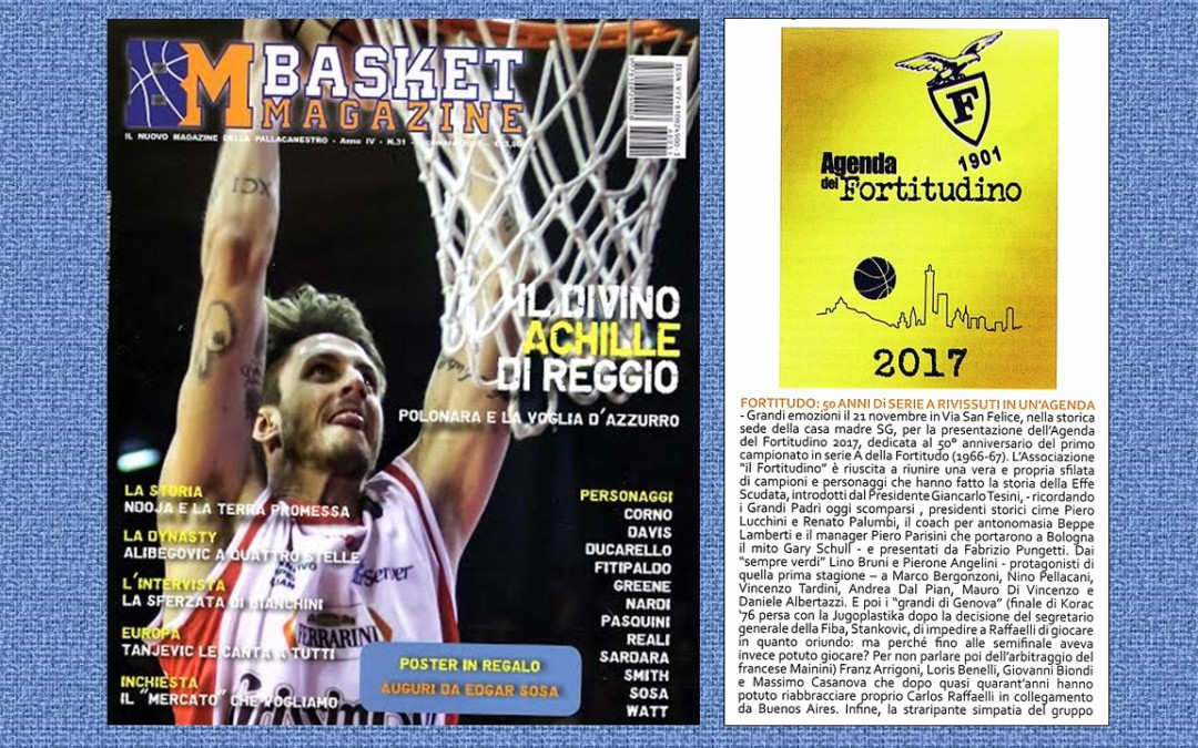 Parlano di noi: Basket Magazine di dicembre presenta l'Agenda 2017