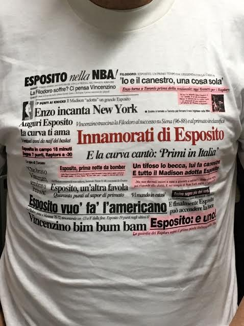 "T-Shirt  ""Vincenzino Esposito sbarca in NBA"""