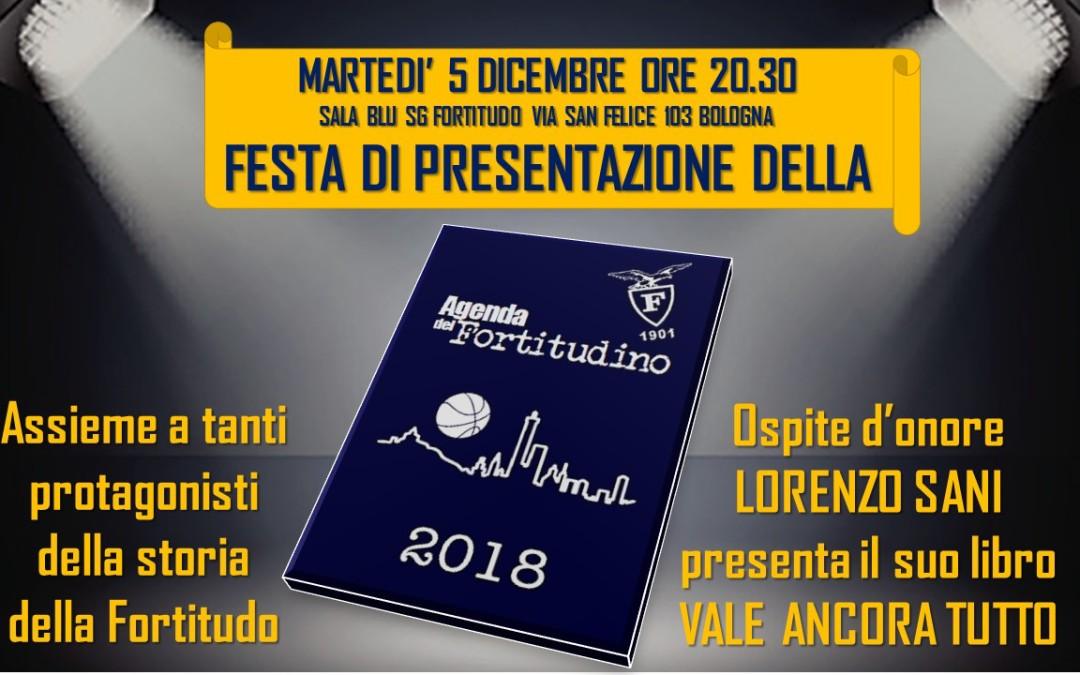 5 dicembre – Festa di presentazione dell'Agenda del Fortitudino 2018