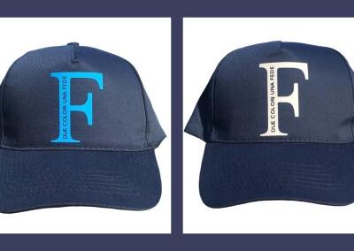 """Cappellino """"F due colori una fede"""""""
