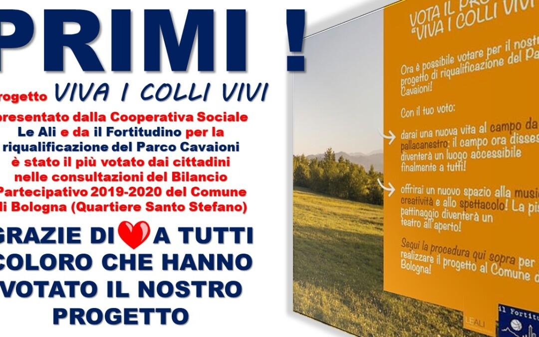 """Il nostro progetto """"Viva i Colli Vivi"""" il più votato – Bilancio Partecipativo Comune di Bologna – Quartiere Santo Stefano"""