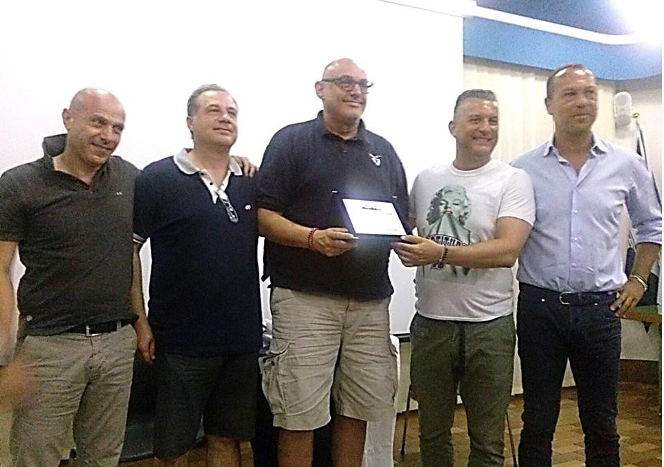 La premiazione di coach Boniciolli